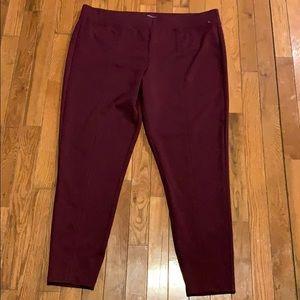 Maurice's burgundy leggings